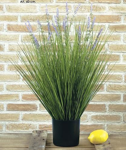 MACETA GRASS-LAVANDA. 60 CM.