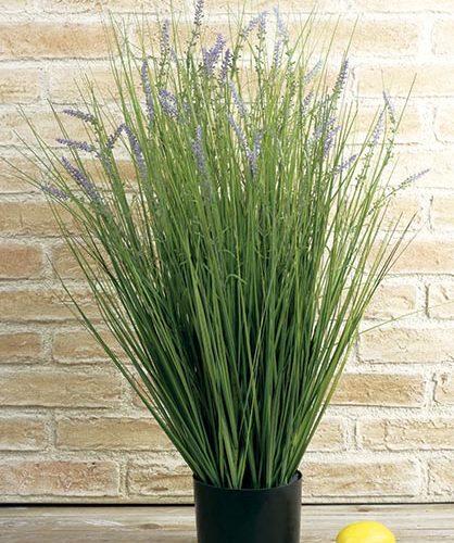 MACETA GRASS-LAVANDA. 80 CM.